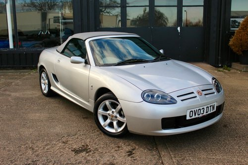 2003 MGTF 135 IN SILVER WITH NEW GREY HOOD, GLASS WINDOW SOLD (picture 1 of 6)