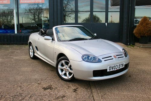 2003 MGTF 135 IN SILVER WITH NEW GREY HOOD, GLASS WINDOW SOLD (picture 3 of 6)