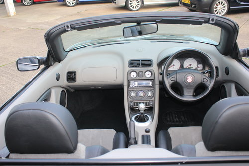 2003 MGTF 135 IN SILVER WITH NEW GREY HOOD, GLASS WINDOW SOLD (picture 4 of 6)