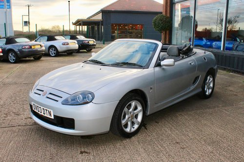 2003 MGTF 135 IN SILVER WITH NEW GREY HOOD, GLASS WINDOW SOLD (picture 5 of 6)