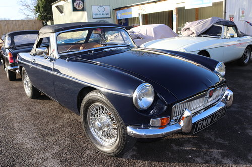 1970 MGB HERITAGE SHELL IN MIDNIGHT BLUE SOLD (picture 1 of 5)