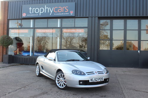 2002 MG TF 160, BLACK LEATHER, ALLOYS, NEW CAMBELT For Sale (picture 1 of 6)
