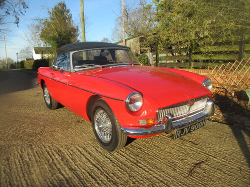 1970 Heritage shell chrome bumper MGB Roadster superb For Sale (picture 1 of 6)