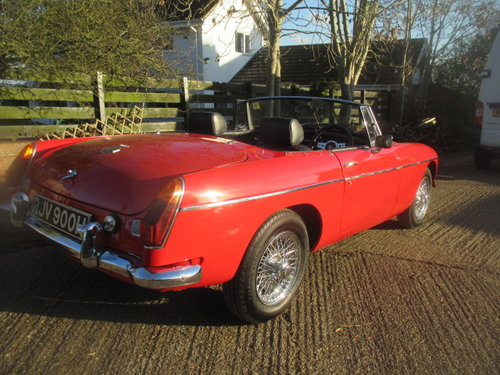 1970 Heritage shell chrome bumper MGB Roadster superb For Sale (picture 4 of 6)