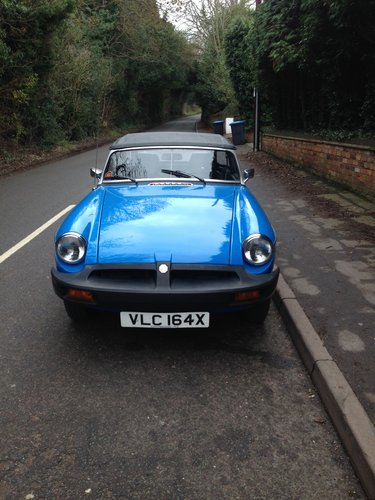 1980 Superb Original MGB ROADSTER  For Sale (picture 1 of 3)