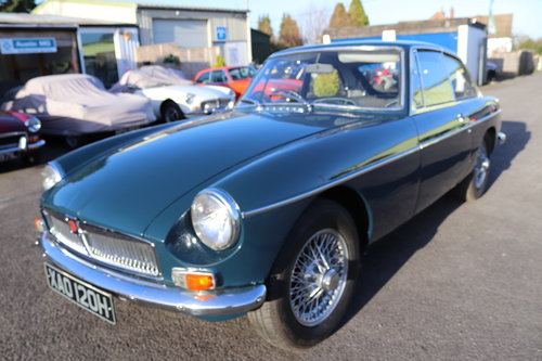 1970 MGB GT in Trafalgar blue SOLD (picture 1 of 4)