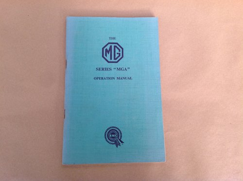 MGA Handbook - Original  For Sale (picture 1 of 2)