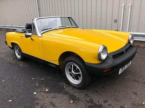 1980 MG MIDGET 1500 JUST 900 MILES FROM NEW!! SOLD (picture 1 of 6)
