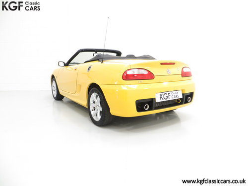 2004 A Rare Trophy Yellow MG TF 135 with Just 16,470 Miles SOLD (picture 4 of 6)