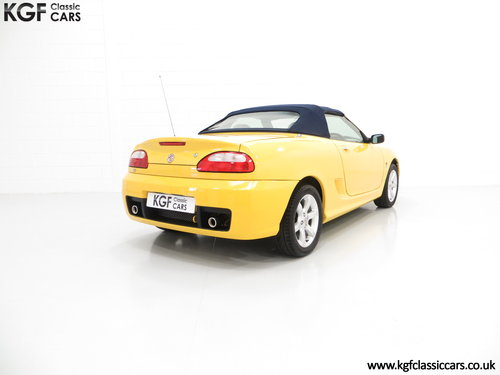 2004 A Rare Trophy Yellow MG TF 135 with Just 16,470 Miles SOLD (picture 5 of 6)