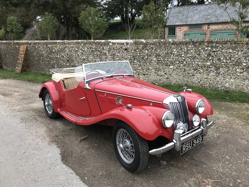 1954 MG TF with many extras - price adjusted For Sale (picture 1 of 6)