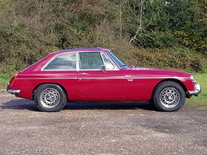 MG B GT V8, 1974, Damask Red SOLD