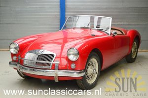 MGA cabriolet 1957 interior as new For Sale