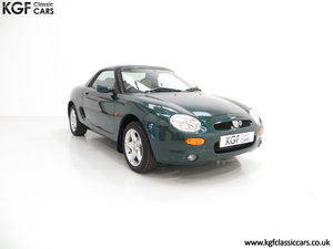 1998 An astonishing one owner MGF 1.8i VVC with just 5,136 miles SOLD