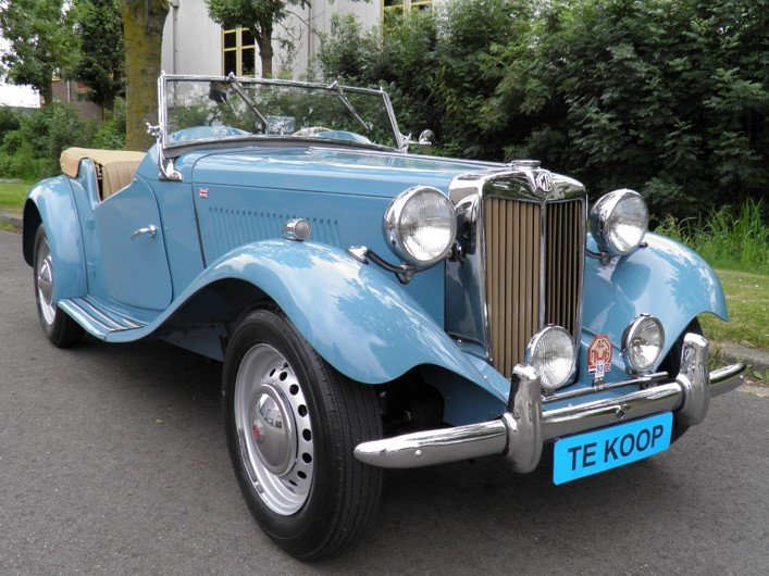 MG TD 1951 Clipper bleu color very rare.    Euro  27950 SOLD (picture 1 of 6)