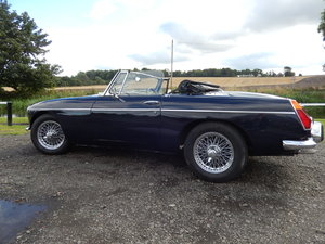 1971 MGB Roadster in Midnight Blue For Sale