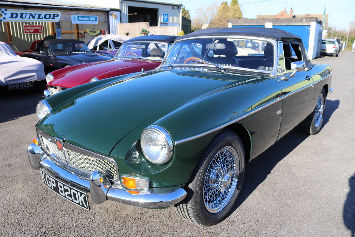 1971 MGB Heritage Shell V8  Roadster SOLD (picture 1 of 5)