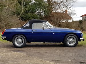 MG B Roadster, 1976, Bermuda Blue SOLD