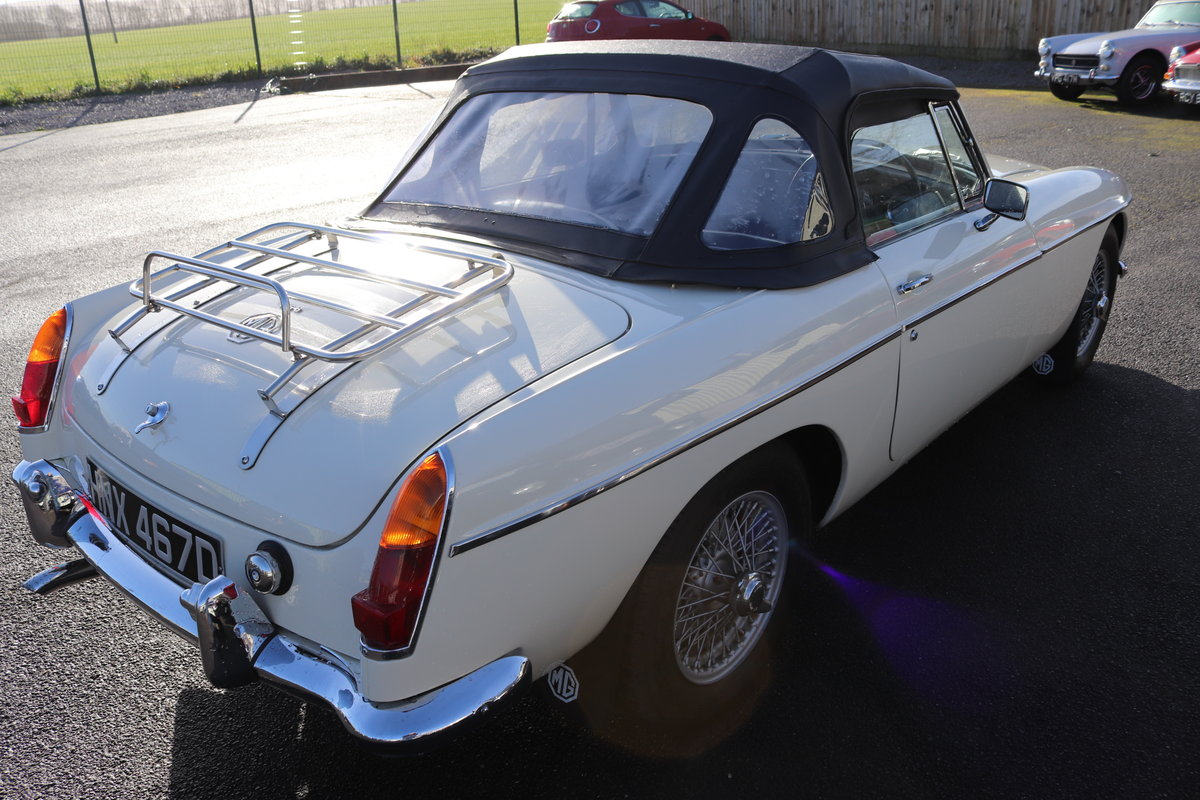 1966 MGB Roadster, mk1, old english white SOLD (picture 3 of 6)