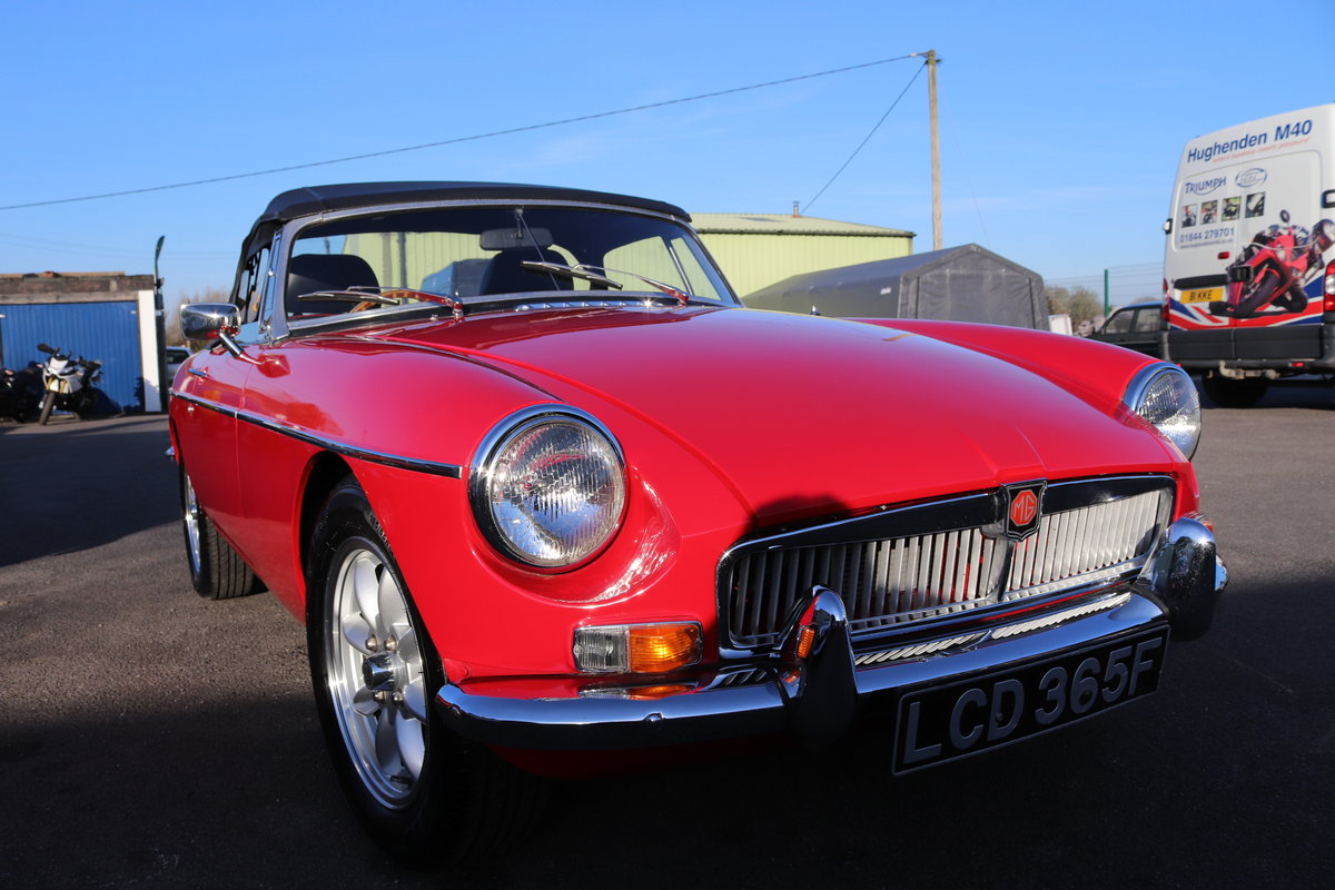 1968 MGB HERITAGE SHELL, Tartan red. SOLD (picture 6 of 6)