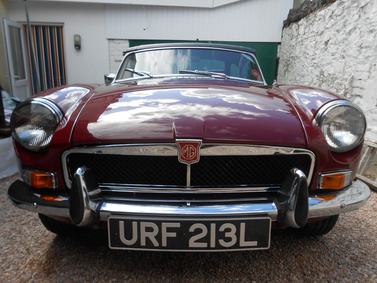 MGB Roadster 1.8 1973 with Overdrive in Torquay  For Sale (picture 1 of 6)