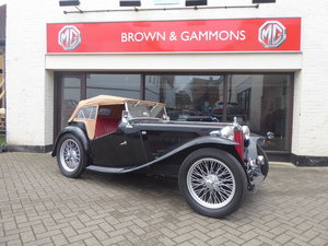 BEAUTIFUL MG TC 1949 IN BLACK For Sale