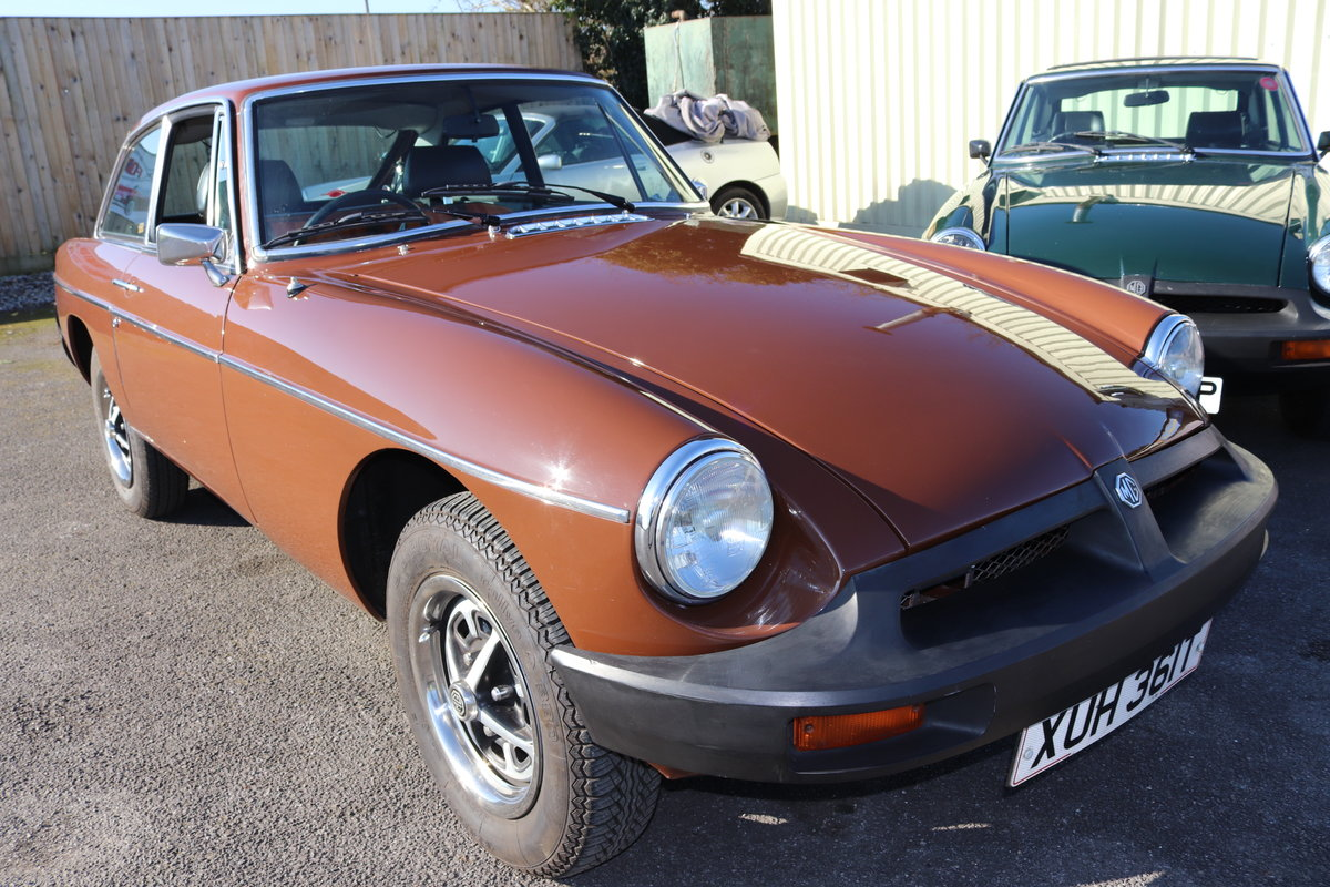 1979 MGB GT in original Russet brown, condition 1. SOLD (picture 1 of 6)