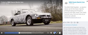 RBW - Electric Classic Roadster Recreation  For Sale