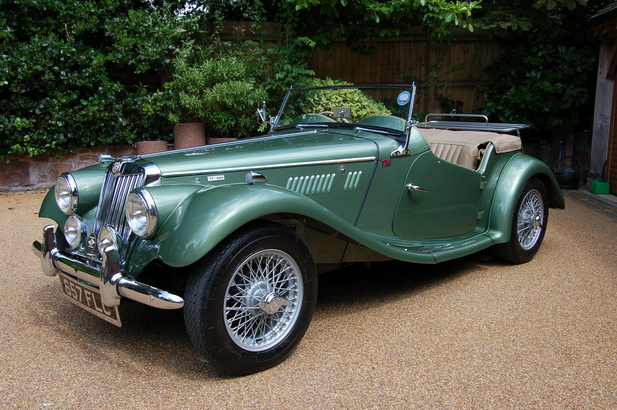 MG TF1500 April 1955 ORIGINAL RHD  SOLD (picture 1 of 2)