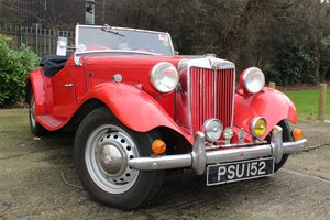 To be sold Wednesday 13th March 2019- 1952 MG TD SOLD by Auction