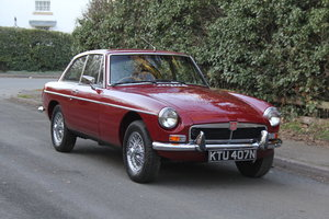 1975 Late Chrome Bumper MGB GT, O/D, CWW, 75K miles For Sale