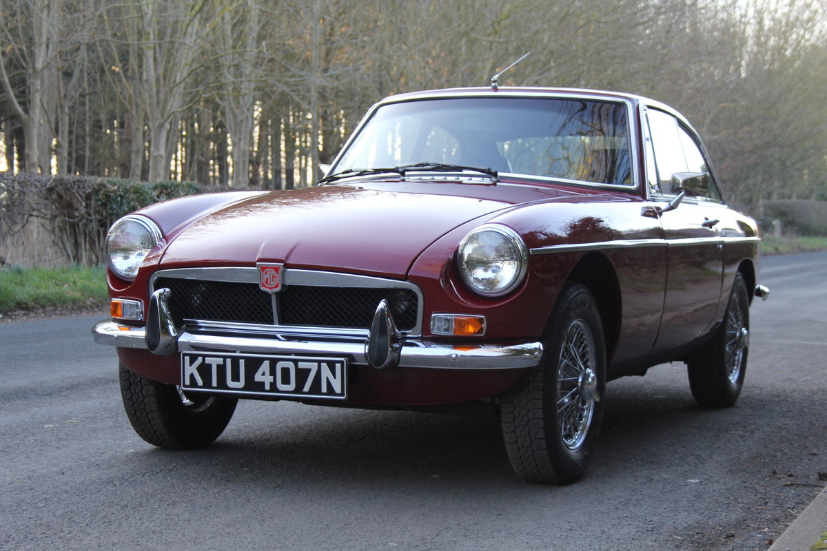 1975 Late Chrome Bumper MGB GT, O/D, CWW, 75K miles SOLD (picture 2 of 12)