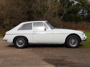 MG B GT, 1971, Glacier white For Sale