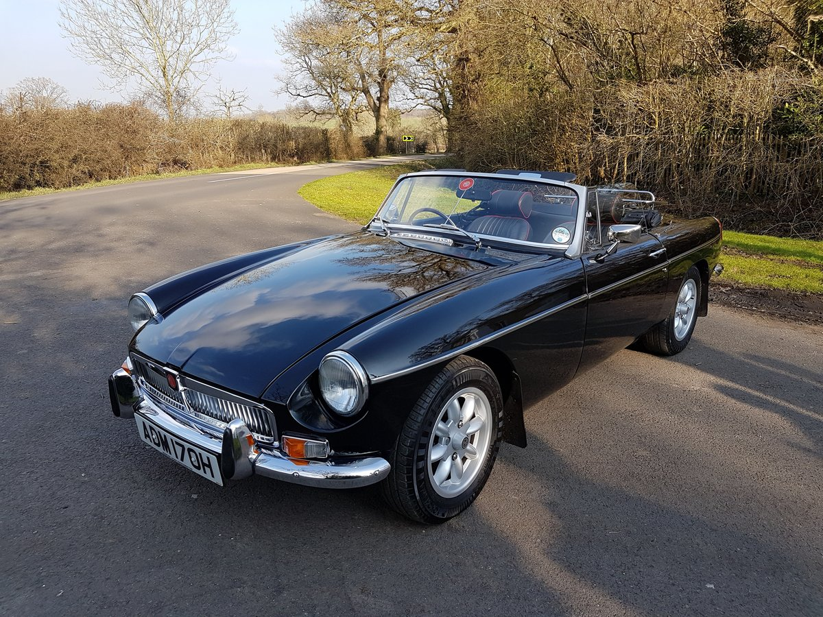 1970 MGB Roadster black, alloys wheels, Heritage Shell  SOLD (picture 3 of 6)