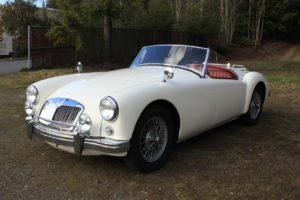 1958 MGA Roadster 1500 = clean Ivory(~)Red driver $42.5k