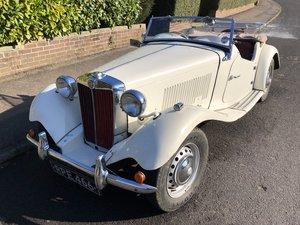 MG TD Midget 1952 Rare UK Model For Sale