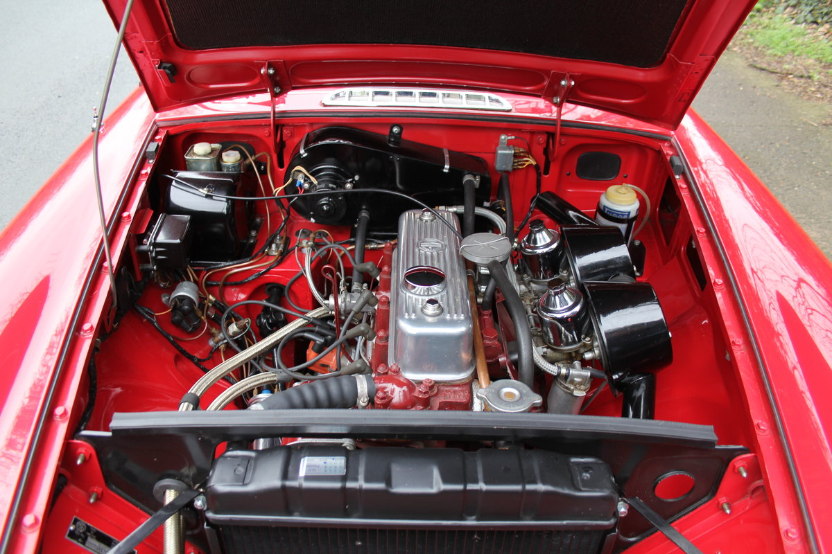 1966 MGB Roadster A1, show engine bay, body colour underside SOLD (picture 9 of 12)