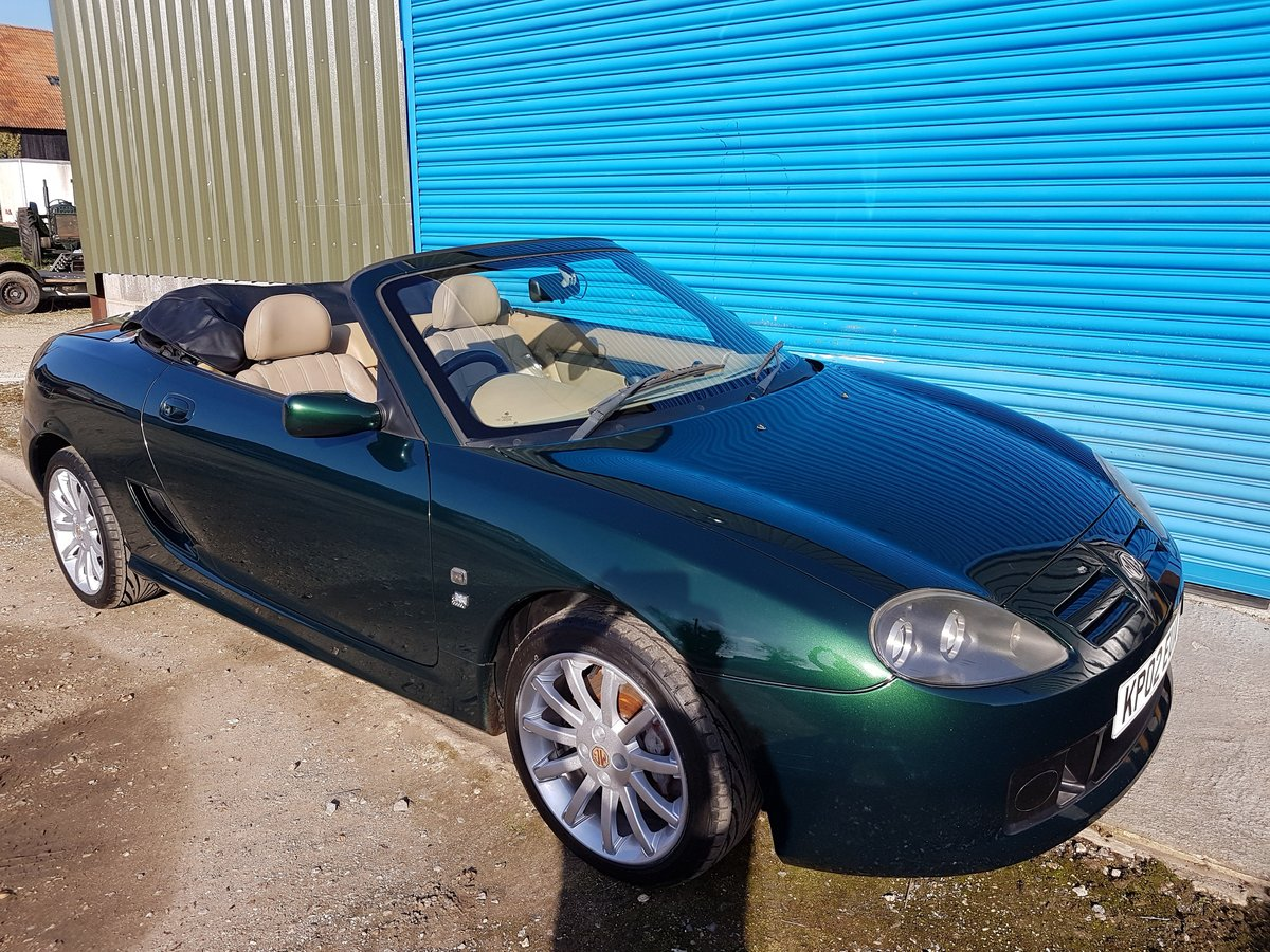2002 MG TF 160 British racing Green / Beige Leather SOLD (picture 1 of 6)