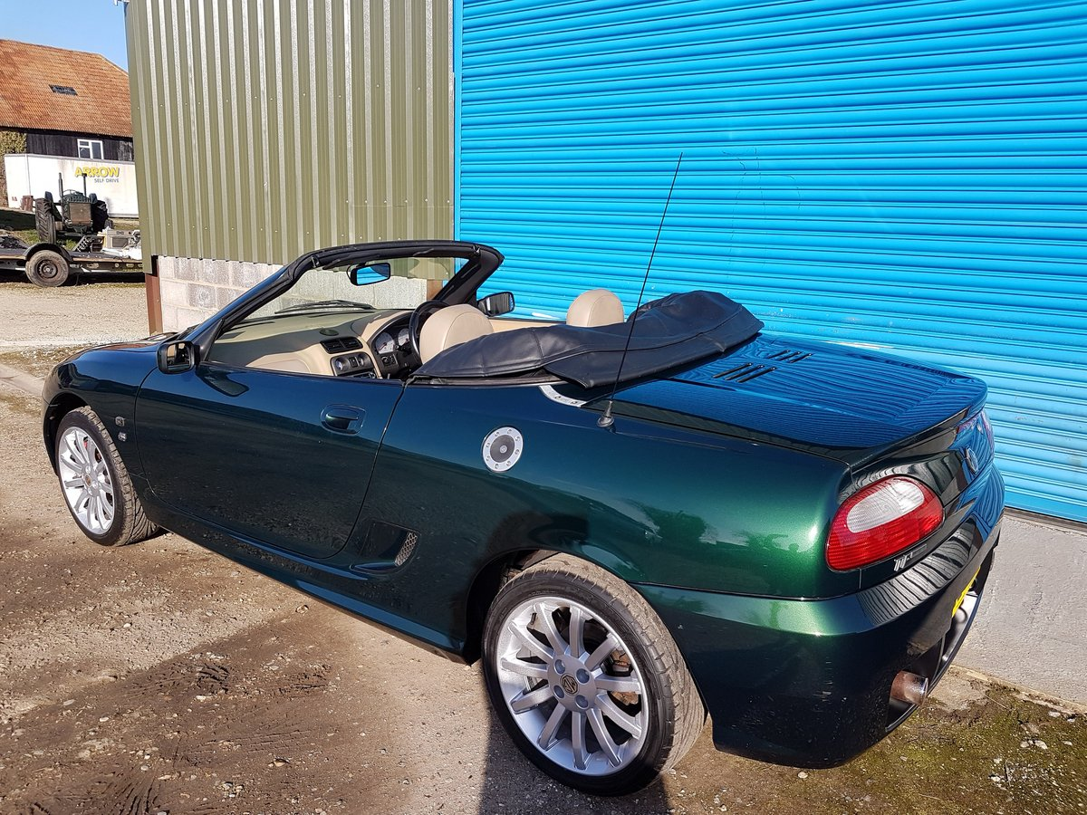 2002 MG TF 160 British racing Green / Beige Leather SOLD (picture 4 of 6)