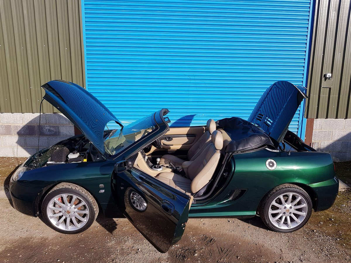 2002 MG TF 160 British racing Green / Beige Leather SOLD (picture 5 of 6)