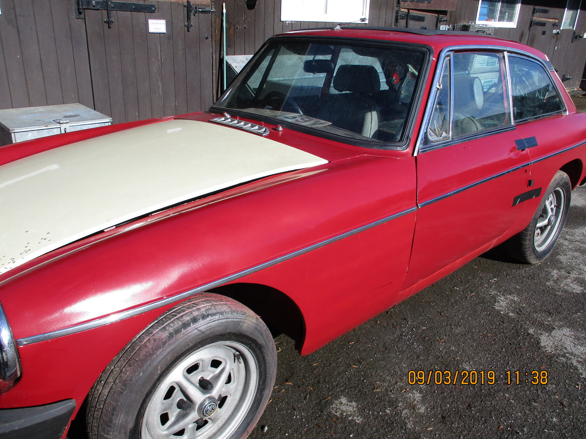 1980 MG B GT RESTORATION PROJECT For Sale (picture 3 of 6)