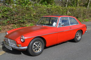 1972 Chrome bumper MGB GT needing a repaint For Sale