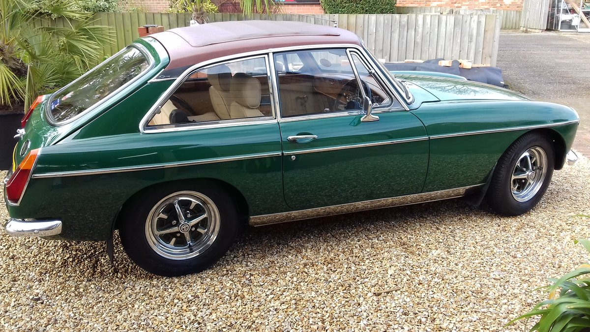1972 MGB GT IN BRG, FABULOUS LOOKING WITH SUNROOF. SOLD (picture 1 of 6)
