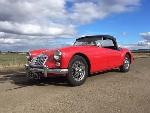 1960 MG A at Morris Leslie Classic Vehicle Auction 25th May SOLD by Auction (picture 1 of 6)