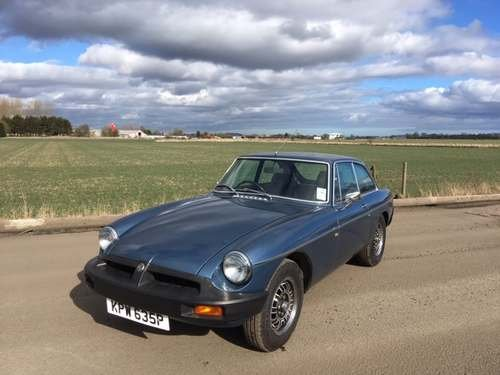1975 MG B GT V8 at Morris Leslie Classic Auction 25th May SOLD by Auction (picture 1 of 6)
