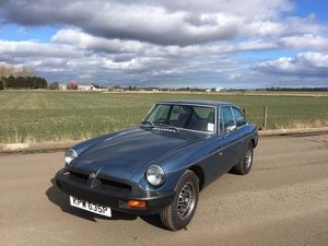 1975 MG B GT V8 at Morris Leslie Classic Auction 25th May SOLD by Auction