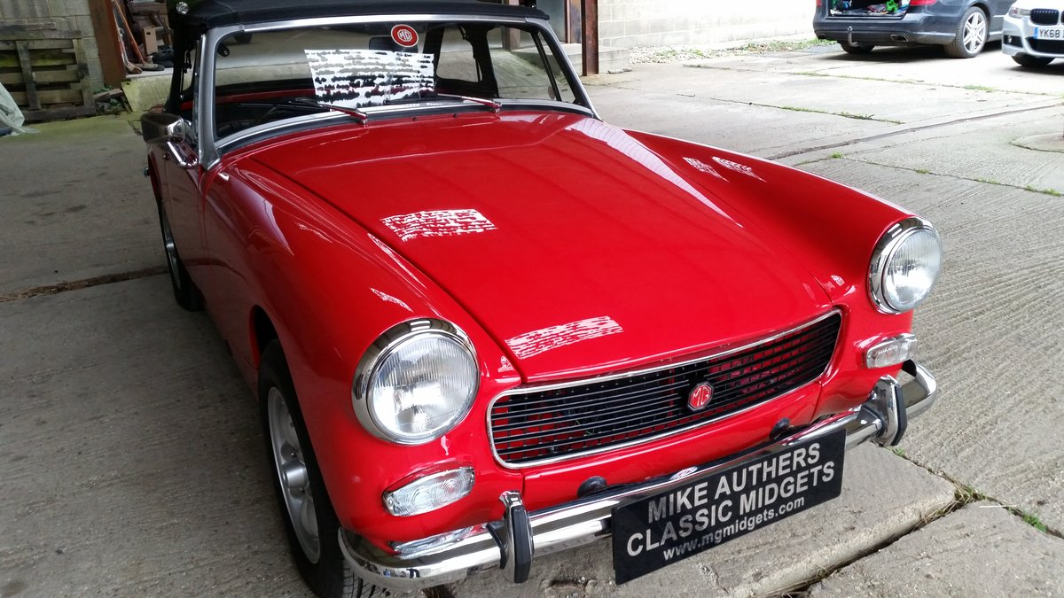 1973  MkIII MG Midget for sale by Mike Authers Classics Ltd SOLD For Sale (picture 1 of 6)