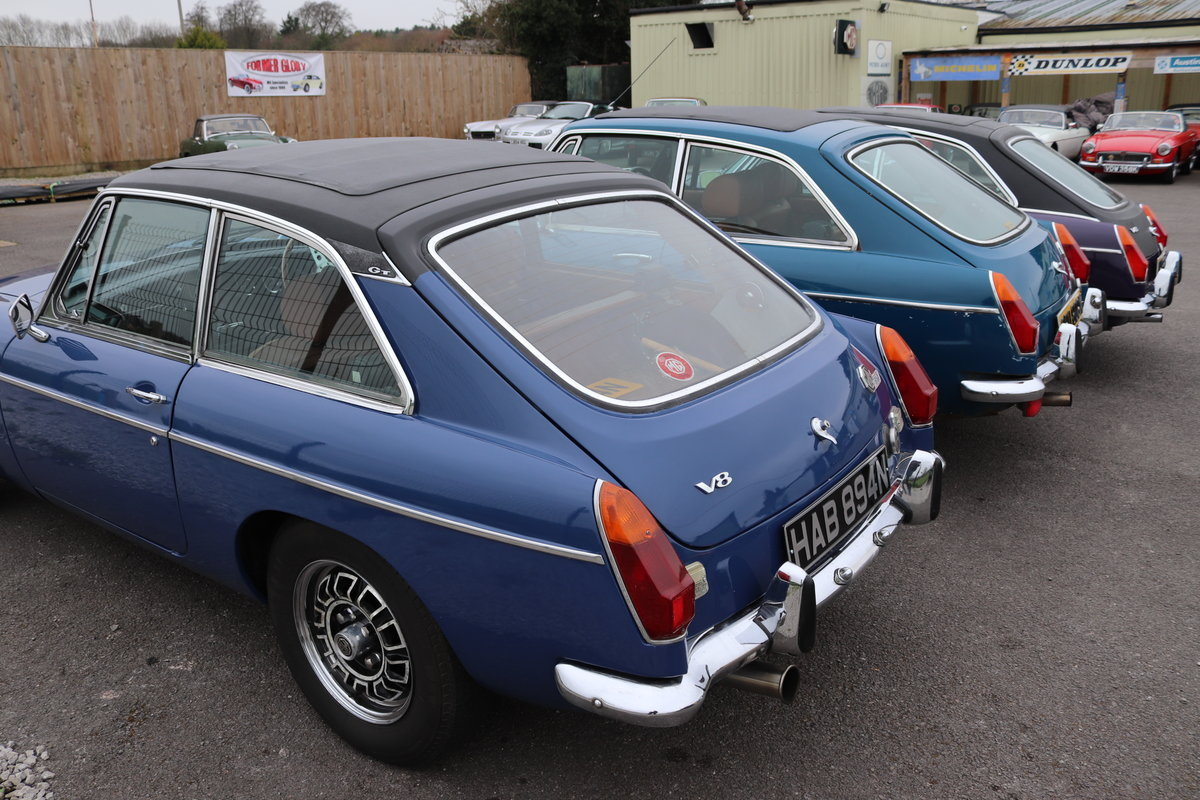 1974 FACTORY MGB GT V8 ,5 IN STOCK For Sale (picture 2 of 5)