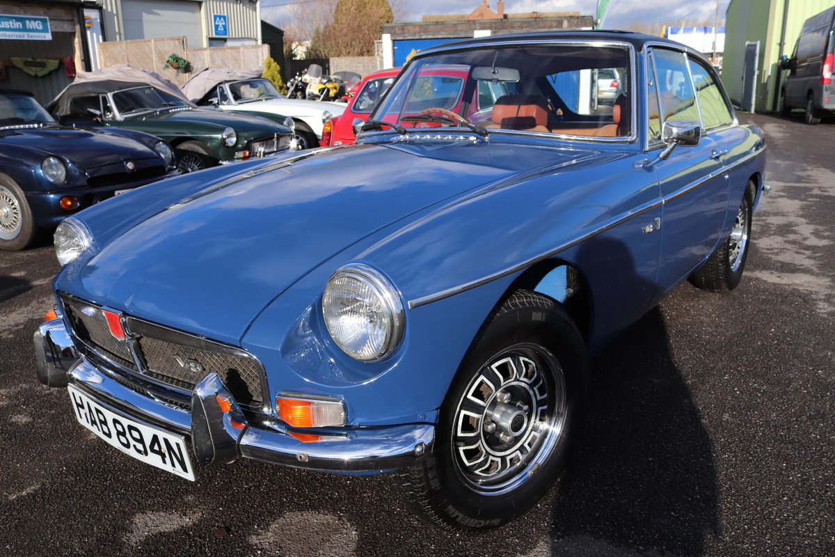 1974 FACTORY MGB GT V8 ,5 IN STOCK For Sale (picture 4 of 5)