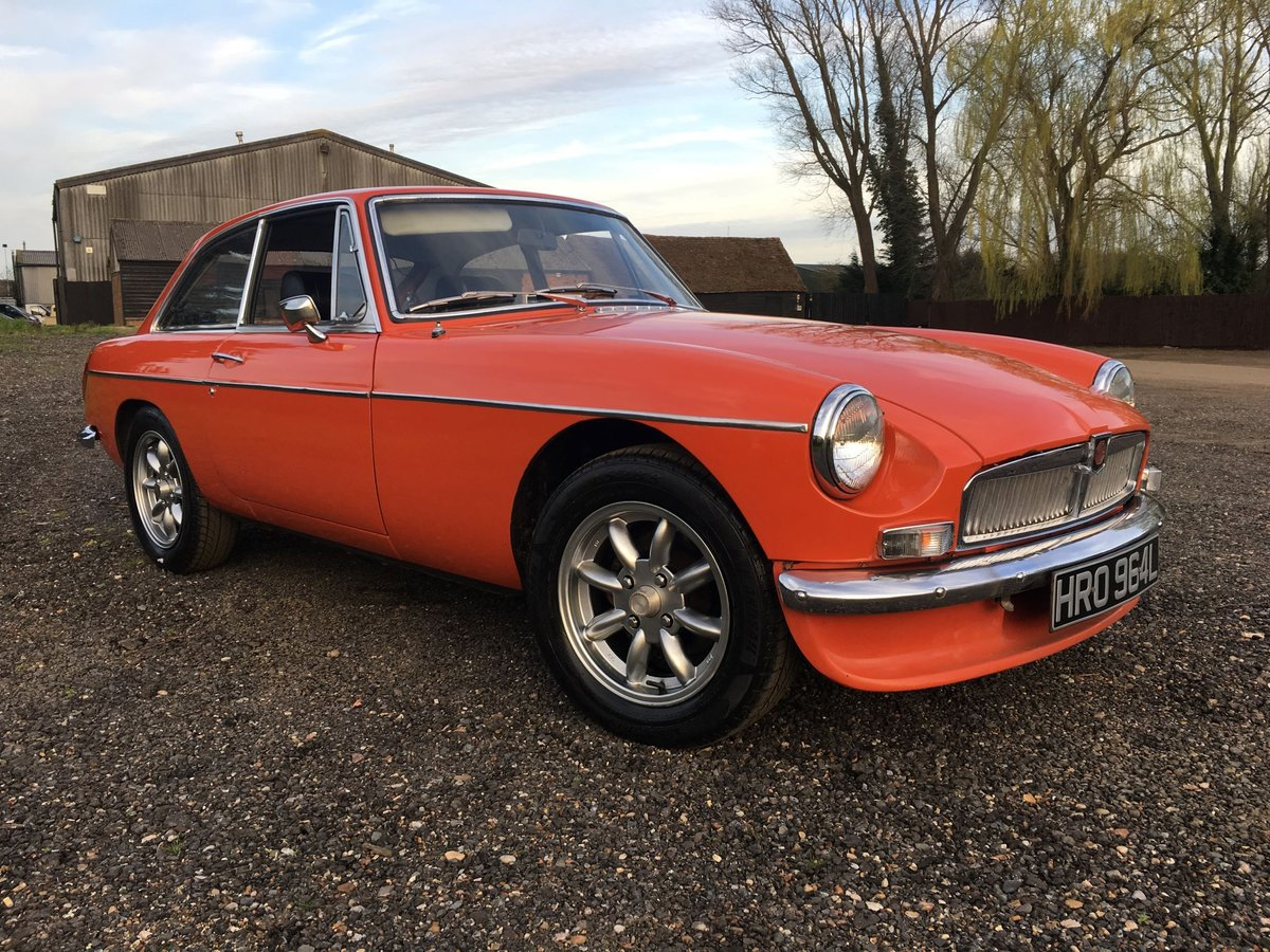 1972 LHD MG BGT - Chrome Bumper - Delivery Possible SOLD (picture 1 of 6)